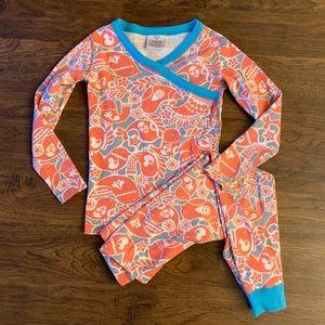 Hanna Andersson Orange Bird Long John Pajamas